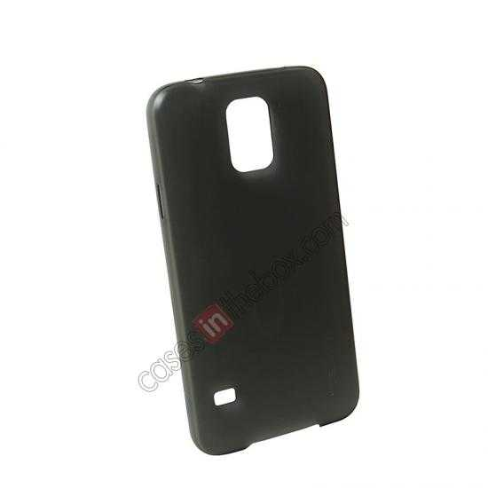 discount USAMS Super Thin TPU Gel Case Cover for Samsung Galaxy S5 - Transparent Black