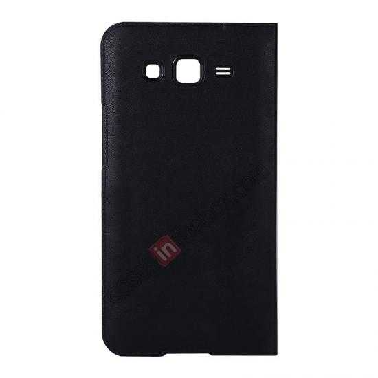 discount USAMS View Window Leather Back Cover Battery Housing Case for Samsung Galaxy Grand 2/G7106 - Black