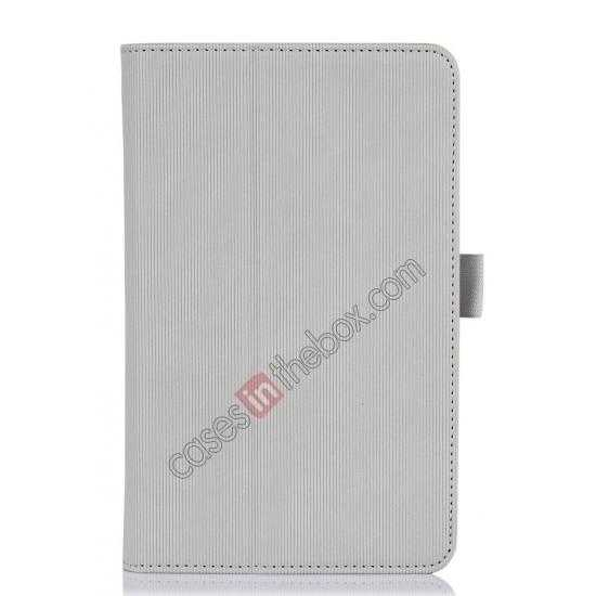 cheap Vertical stripe Smart Tri-Fold Stand Leather Case for Acer Iconia B1-720 - White
