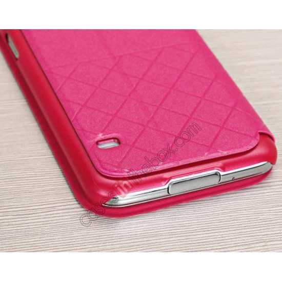 on sale Window View Design Slim PU Leather Flip Stand Case For Samsung Galaxy S5 - Rose