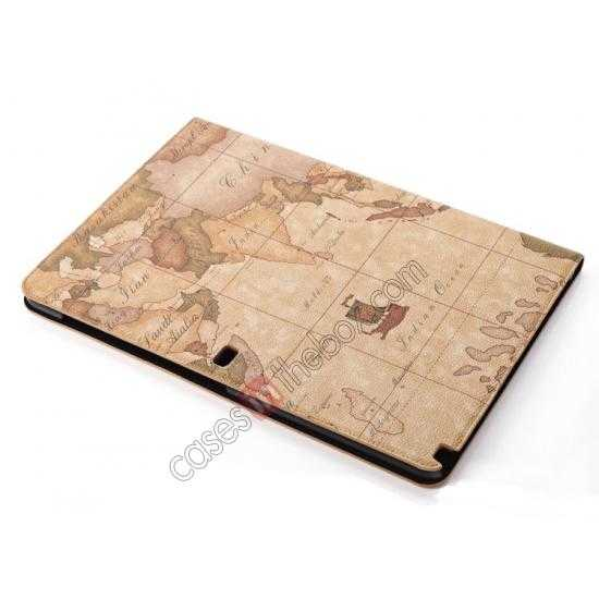 best price World Map Pattern Folio Stand Leather Case for Samsung Galaxy Tab Pro 12.2 P900 - Brown