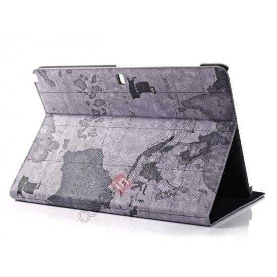 wholesale World Map Pattern Folio Stand Leather Case for Samsung Galaxy Tab Pro 12.2 P900 - Grey