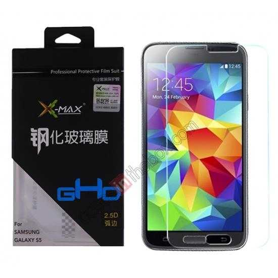 wholesale X-MAX GHD 0.3mm 2.5D 9H Hardness Tempered Glass Screen Protector for Samsung Galaxy S5