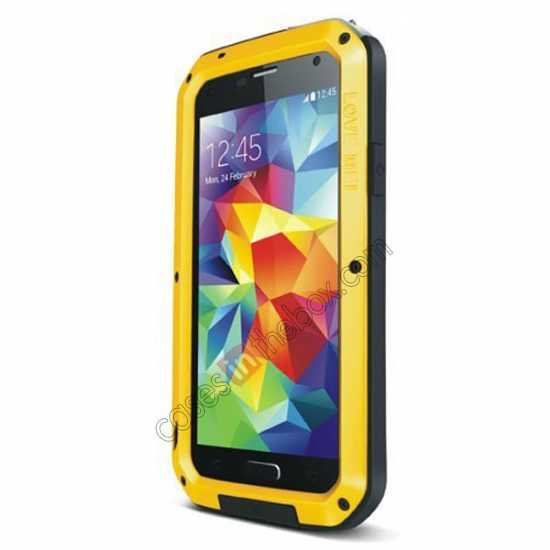 wholesale Waterproof Aluminum Gorilla Metal Cover Case For Samsung Galaxy S5 - Yellow
