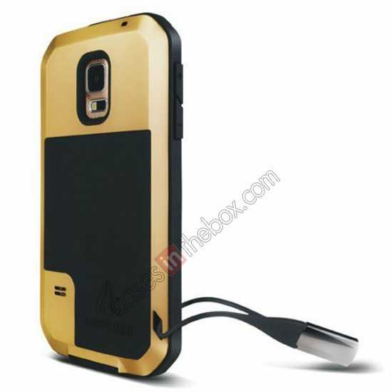 cheap Waterproof Aluminum Gorilla Metal Cover Case For Samsung Galaxy S5 - Yellow