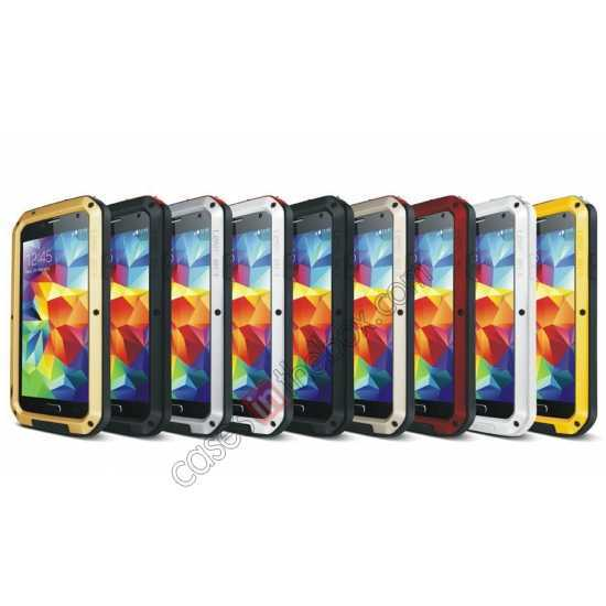 low price Waterproof Aluminum Gorilla Metal Cover Case For Samsung Galaxy S5 - Yellow