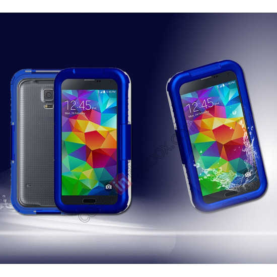 discount Waterproof Shockproof Dirt Proof Durable Case Cover for Samsung Galaxy S5 - Blue