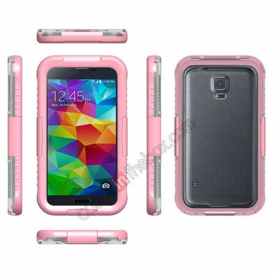 wholesale Waterproof Shockproof Dirt Proof Durable Case Cover for Samsung Galaxy S5 - Pink