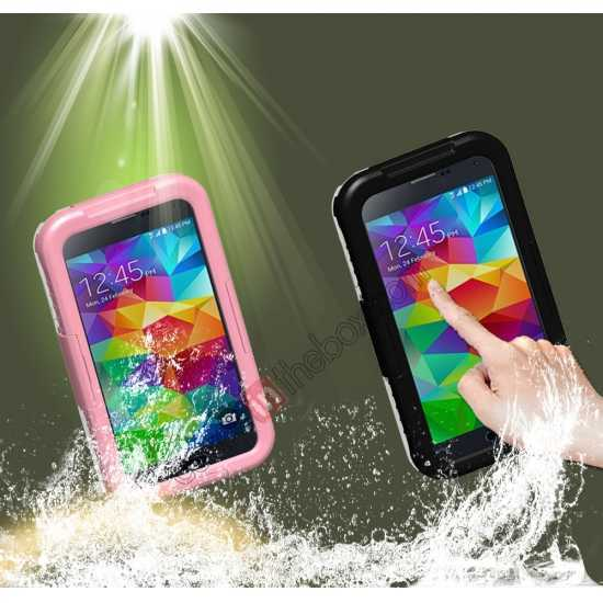 cheap Waterproof Shockproof Dirt Proof Durable Case Cover for Samsung Galaxy S5 - Pink