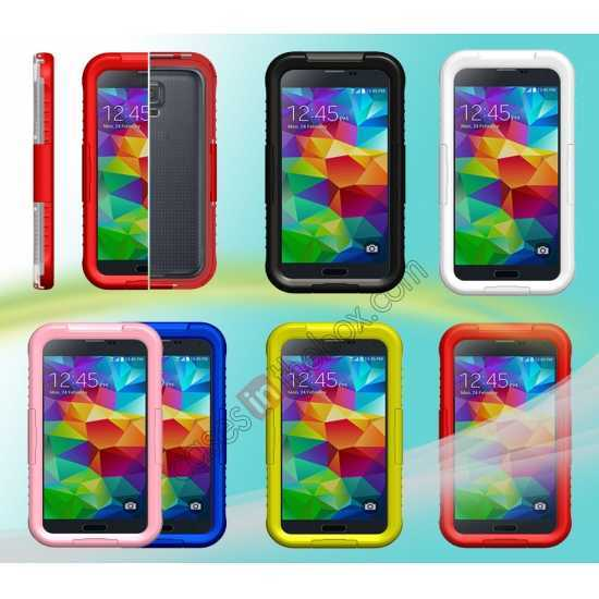 top quality Waterproof Shockproof Dirt Proof Durable Case Cover for Samsung Galaxy S5 - Pink