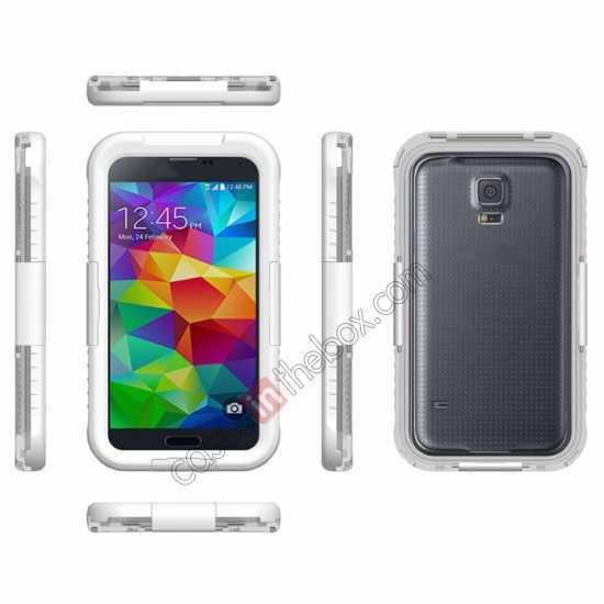 wholesale Waterproof Shockproof Dirt Proof Durable Case Cover for Samsung Galaxy S5 - White