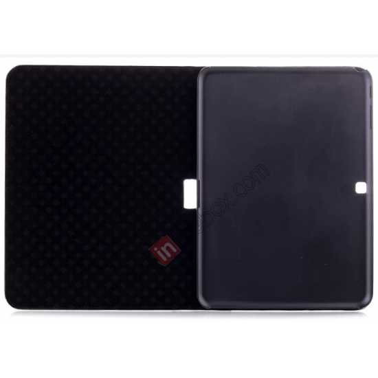 top quality Crocodile Pattern Leather Stand Case for Samsung Galaxy Tab 4 10.1 T530 - Black
