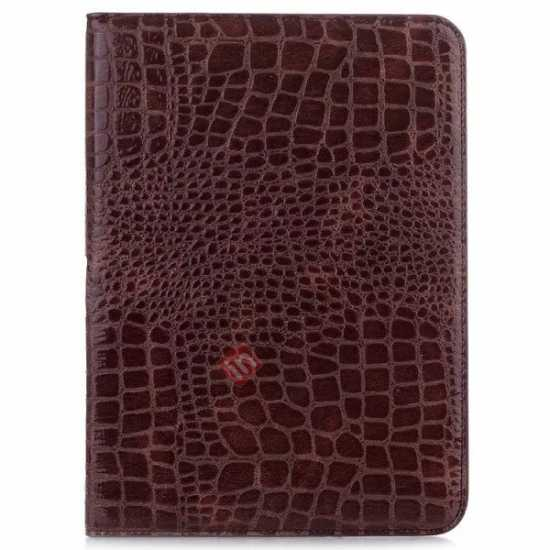 discount Crocodile Pattern Leather Stand Case for Samsung Galaxy Tab 4 10.1 T530 - Brown