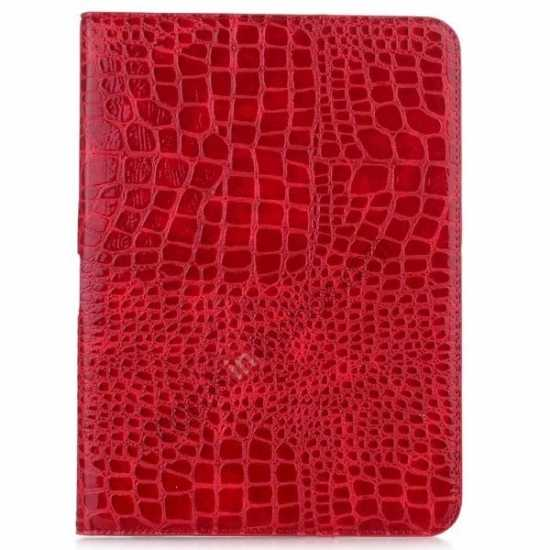 discount Crocodile Pattern Leather Stand Case for Samsung Galaxy Tab 4 10.1 T530 - Red