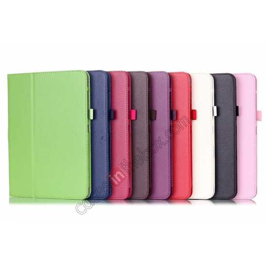 wholesale Lychee Leather Pouch Case With Stand for Samsung Galaxy Tab 4 10.1 T530