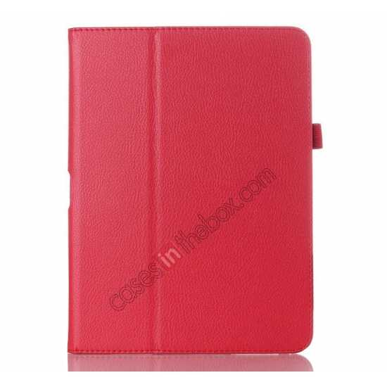 low price Lychee Leather Pouch Case With Stand for Samsung Galaxy Tab 4 10.1 T530