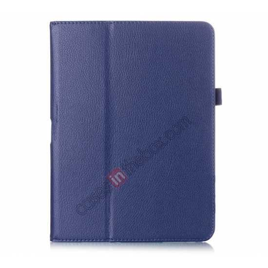 China leading wholesale Lychee Leather Pouch Case With Stand for Samsung Galaxy Tab 4 10.1 T530