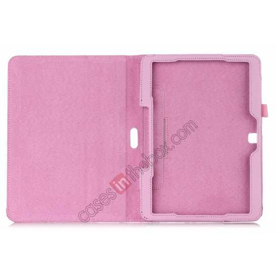 top quality Lychee Leather Pouch Case With Stand for Samsung Galaxy Tab 4 10.1 T530