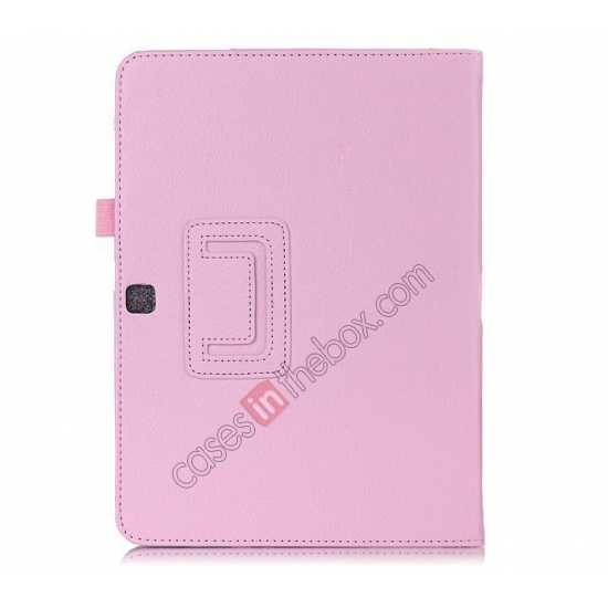 cheap Lychee Leather Pouch Case With Stand for Samsung Galaxy Tab 4 10.1 T530
