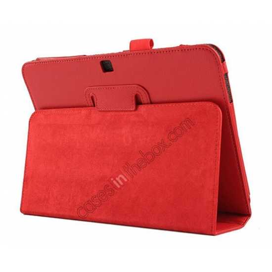 discount wholesale Lychee Leather Pouch Case With Stand for Samsung Galaxy Tab 4 10.1 T530