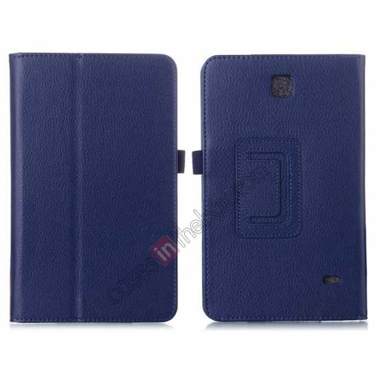 wholesale Lychee Leather Pouch Case With Stand for Samsung Galaxy Tab 4 8.0 T330 - Blue