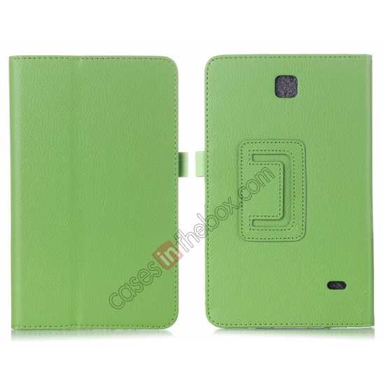 wholesale Lychee Leather Pouch Case With Stand for Samsung Galaxy Tab 4 8.0 T330 - Green