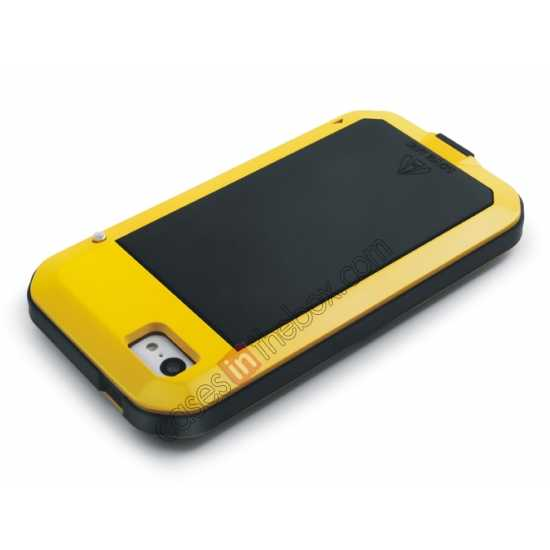 top quality Rugged Shockproof Waterproof Protective Metal Case for iPhone 5C