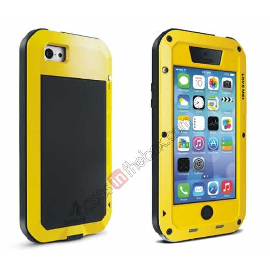 discount Rugged Shockproof Waterproof Protective Metal Case for iPhone 5C