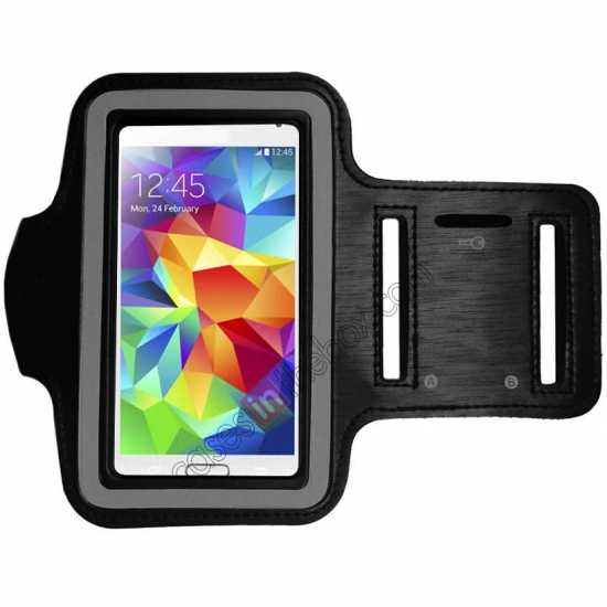 wholesale Sports Gym Running Arm Band Armband Case Cover For Samsung Galaxy S5 - Black