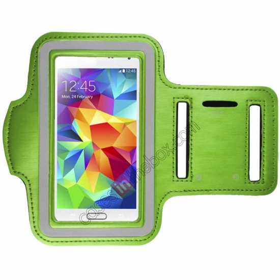 wholesale Sports Gym Running Arm Band Armband Case Cover For Samsung Galaxy S5 - Green