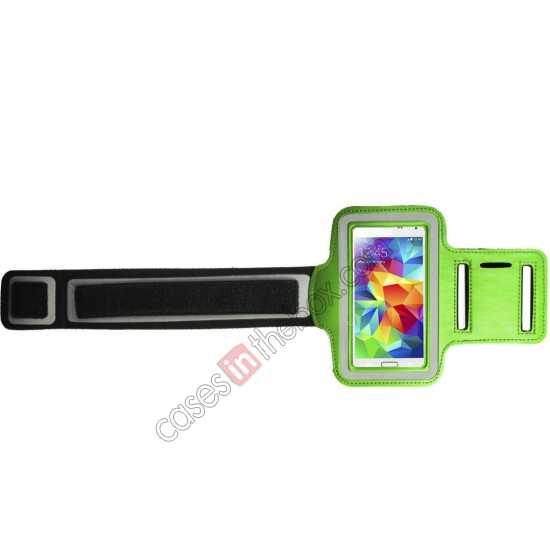 discount Sports Gym Running Arm Band Armband Case Cover For Samsung Galaxy S5 - Green
