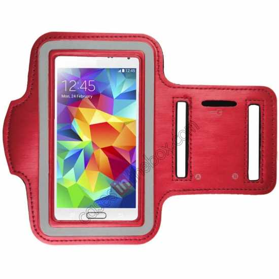 wholesale Sports Gym Running Arm Band Armband Case Cover For Samsung Galaxy S5 - Red