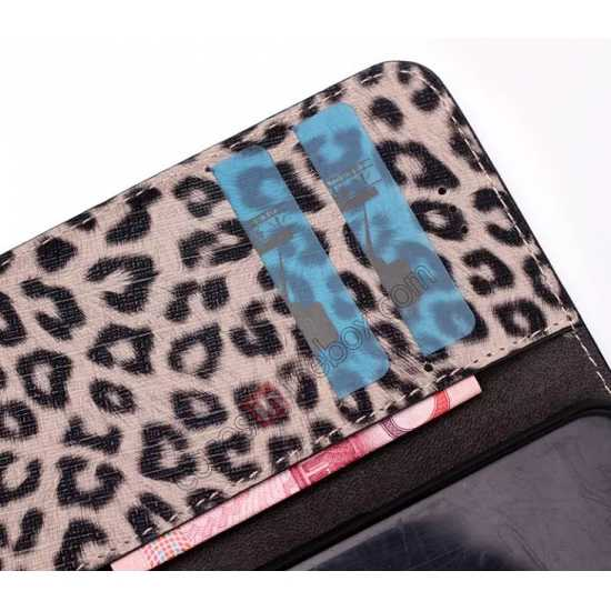 low price Leopard Print Leather Folio Stand Wallet Case for iPhone 6/6S 4.7 - Brown