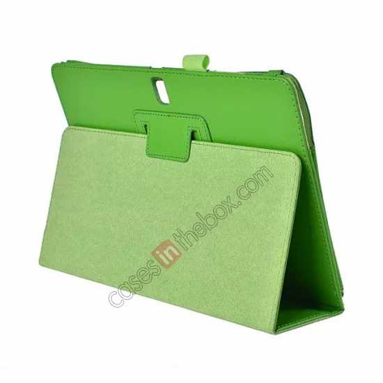wholesale Lychee Leather Stand Fold Folio Case for Samsung Galaxy Tab S 10.5 T800 - Green