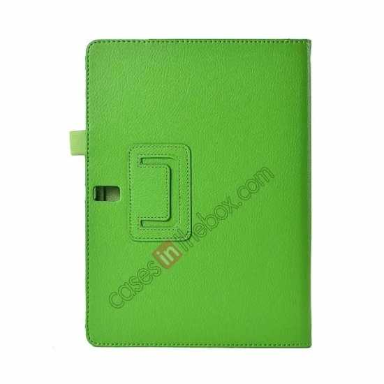 top quality Lychee Leather Stand Fold Folio Case for Samsung Galaxy Tab S 10.5 T800 - Green