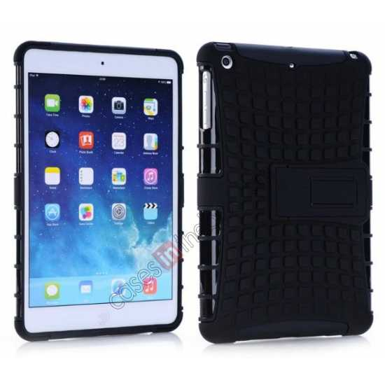 wholesale Shockproof Military Duty Hybrid Hard Case for iPad Mini 2 Retina - Black