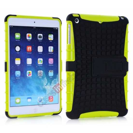 wholesale Shockproof Military Duty Hybrid Hard Case for iPad Mini 2 Retina - Green
