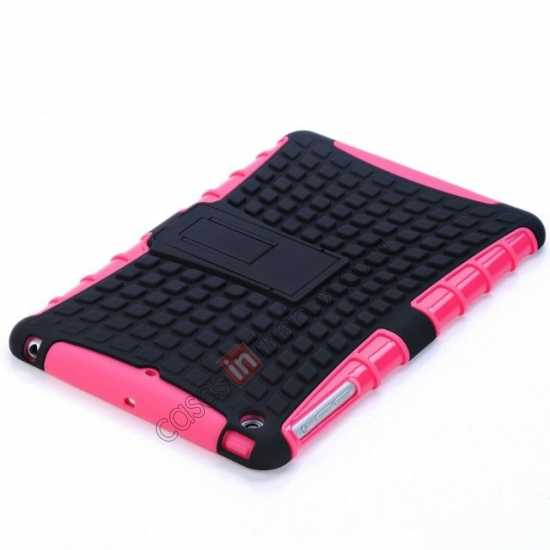 cheap Shockproof Military Duty Hybrid Hard Case for iPad Mini 2 Retina - Hot pink