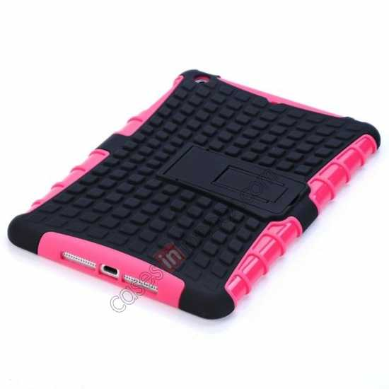 top quality Shockproof Military Duty Hybrid Hard Case for iPad Mini 2 Retina - Hot pink