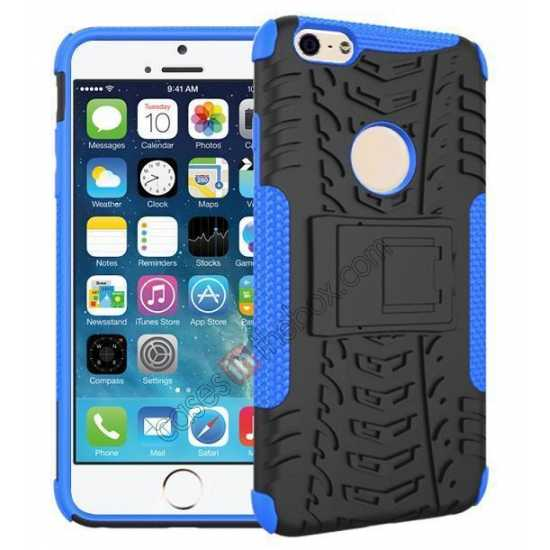 wholesale Heavy Duty Durable Case Cover Stand For iPhone 6 Plus/6S Plus 5.5inch - Blue