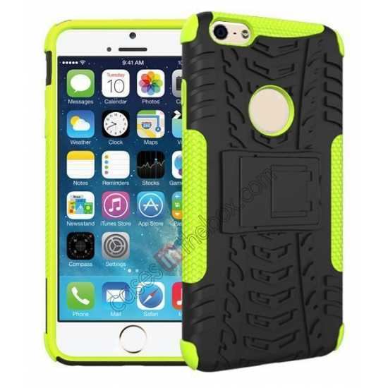 wholesale Heavy Duty Durable Case Cover Stand For iPhone 6 Plus/6S Plus 5.5inch - Green