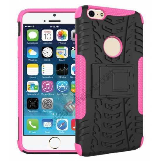 wholesale Heavy Duty Durable Case Cover Stand For iPhone 6 Plus/6S Plus 5.5inch - Hot pink