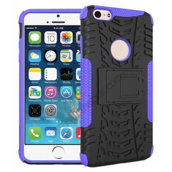 wholesale Heavy Duty Durable Case Cover Stand For iPhone 6 Plus/6S Plus 5.5inch - Purple