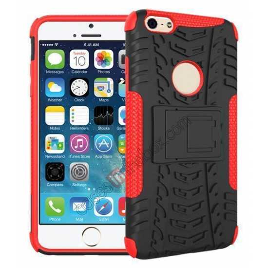 wholesale Heavy Duty Durable Case Cover Stand For iPhone 6 Plus/6S Plus 5.5inch - Red
