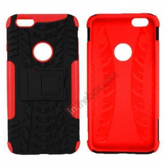 discount Heavy Duty Durable Case Cover Stand For iPhone 6 Plus/6S Plus 5.5inch - Red