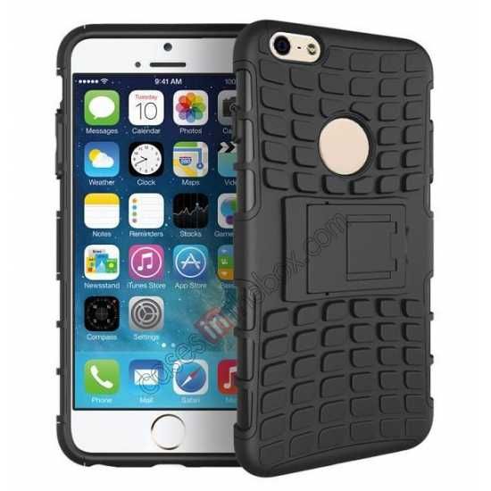 wholesale Heavy Duty Strong Hard TPU Case Cover Stand For iPhone 6 Plus/6S Plus 5.5inch - Black