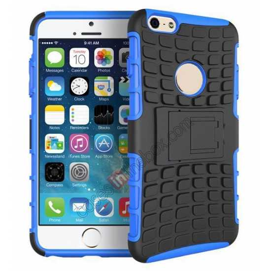 wholesale Heavy Duty Strong Hard TPU Case Cover Stand For iPhone 6 Plus/6S Plus 5.5inch - Blue