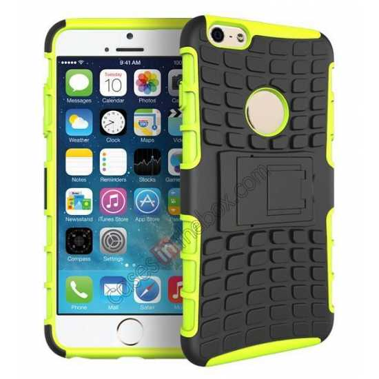 wholesale Heavy Duty Strong Hard TPU Case Cover Stand For iPhone 6 Plus/6S Plus 5.5inch - Green