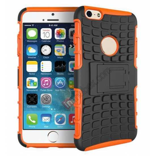 wholesale Heavy Duty Strong Hard TPU Case Cover Stand For iPhone 6 Plus/6S Plus 5.5inch - Orange