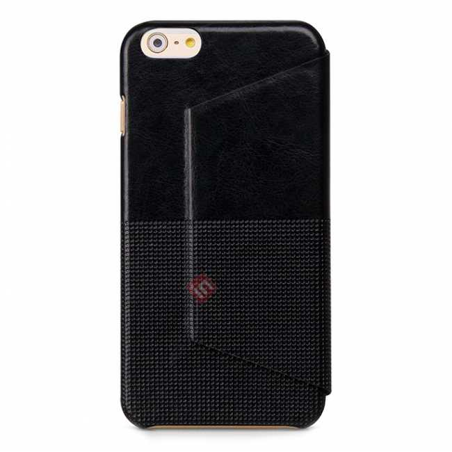 discount HOCO Retro Fashion Series Protective Leather Case for for iPhone 6 Plus/6S Plus 5.5 Inch - Black